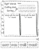 Dolch Primer Sight Words Art and Scissors Practice Pages