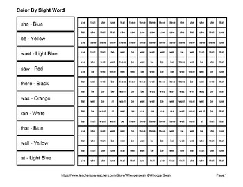Dolch Primer: Color by Sight Word - Winter Snowman Emoji Mystery Pictures