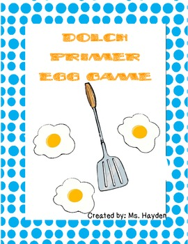 Dolch Primer: Egg Sight Word Game