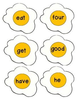 Dolch Primer: Egg Sight Word Game