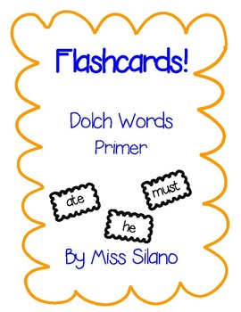 Dolch Primer Flashcards