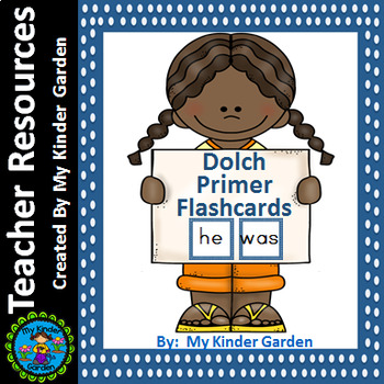 Dolch Primer Flashcards Blue Dot