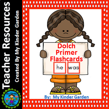 Dolch Primer Flashcards Red Dot