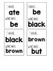 Dolch Primer Sight Words I HAVE WHO HAS game