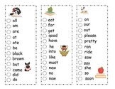 Dolch Primer List Sight Word Sticker Book ~ Adorable Readi