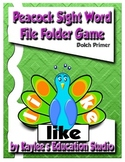 Dolch Primer Peacock sight word file-folder game