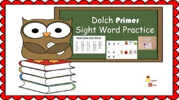 Dolch Primer Sight Word Activity