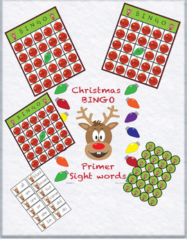 Dolch Primer Sight Word BINGO for Christmas