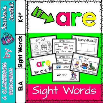 Dolch Primer Sight Word Booklet ARE