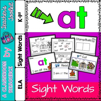Dolch Primer Sight Word Booklet AT
