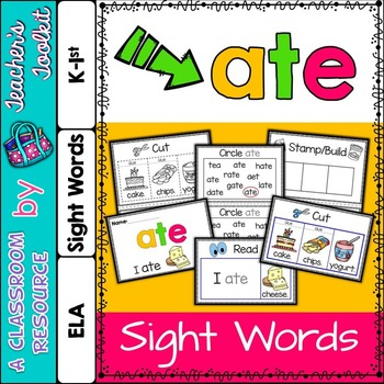 Dolch Primer Sight Word Booklet ATE