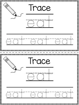 Dolch Primer Sight Word Booklet EAT