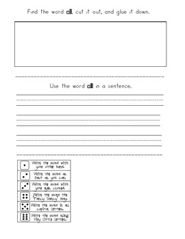 Dolch Primer Sight Word Booklets