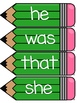 Dolch Primer Word Wall Sight Word Cards- Green