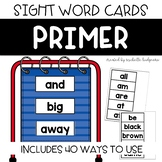 Dolch Primer Sight Word Cards, Word Wall, Center, Distance