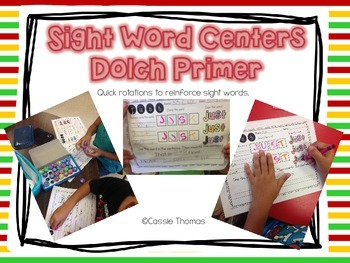 Dolch Primer Sight Word Centers