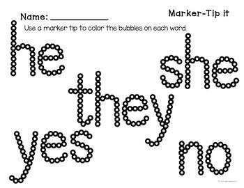 Sight Word Activities FREBIE
