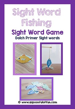 Dolch Primer Sight Word Fishing Game Printable