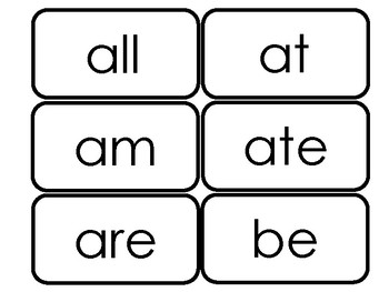 Dolch Primer Sight Word Flash Cards in a PDF file.  Kindergarten flash cards.