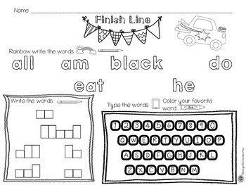 Dolch Primer Sight Word Games and Activities {Editable}