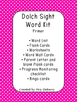 Dolch Primer Sight Word Kit