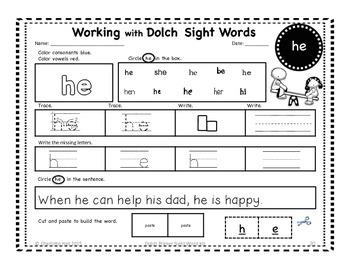 Dolch Primer Sight Word Kit: Playground Theme