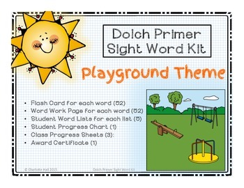 Dolch Primer Sight Word Kit: Playground Theme
