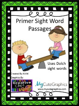Dolch Primer Sight Word Passages