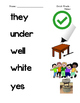 Dolch Primer Sight Word Picture Match