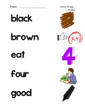 #1. Dolch Primer Sight Word Picture Match
