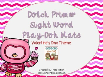 Dolch Primer Sight Word Play-Doh Mats Valentine's Day Theme