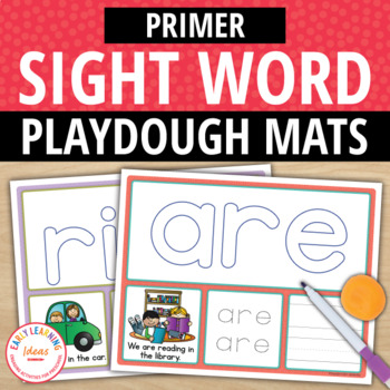 Primer Sight Word Play Dough Activity Mats:Build, Read, Trace, & Write