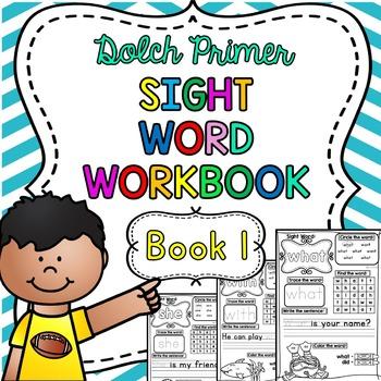 Dolch Primer Sight Word Practice Workbook ~ Book 1