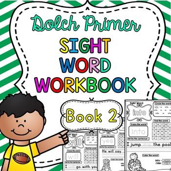 Dolch Primer Sight Word Practice Workbook ~ Book 2