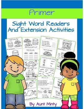 Dolch Primer Sight Word Readers with Extension Activities, Homework