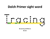 Dolch Primer Sight Word Tracing