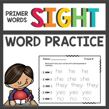 Sight Word Worksheets and Activities