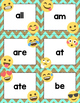 Dolch Primer Sight Words Cards- Emoji Theme