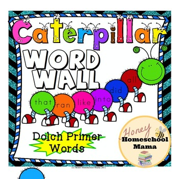 Dolch Primer Sight Words Caterpillar Word Wall Set