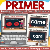 Dolch Primer Sight Words Digital