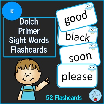 Dolch Primer Sight Words Flashcards