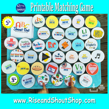 "Dolch Primer Sight Words Matching Game SHOUT OUT Set 3; 31, 3"" & 5"" cards;"