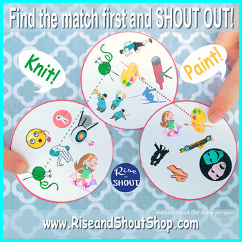 """Dolch Primer Sight Words Matching Game SHOUT OUT Set 3; 31, 3"""" & 5"""" cards;"""