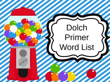 Dolch Primer Sight Words PowerPoint Presentation