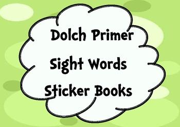 Primer Sight Words Sticker Books