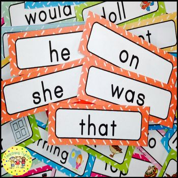 Dolch Primer Sight Words Word Wall Cards