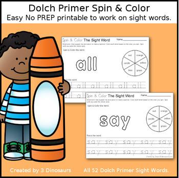 Dolch Primer Spin & Color