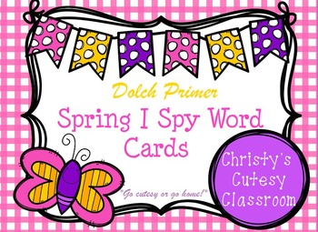 Dolch Primer Spring I Spy Word Cards