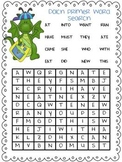 Dolch Primer Word Search Practice Page