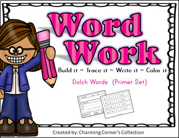 Dolch Word Work (Primer Set)